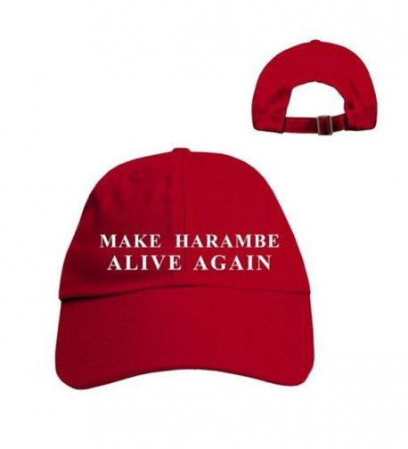 Beged Make Harambe Alive Again Funny Parody Trump Hat 2016/Harambe Gorilla Election Cap - Red W/Wht Thread - CX12N0BEFVP
