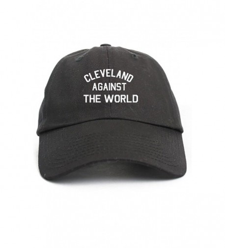 Cleveland Against The World Unstructured Dad Hat Baseball Cap-Black - CL12O2TZ4VK