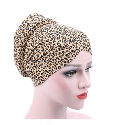 DEESEE Women Muslim Stretch Turban Hat Chemo Cap Hair Loss Head Scarf Wrap Hijib Cap - E - CY18546CG8O