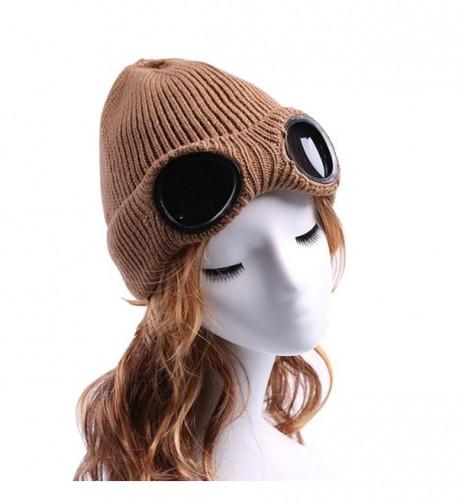 Winter Beanie Hat Warm Knit Skull Cap Ski Hat With Glasses For Women - Oranger - CB188ZTIH3Z