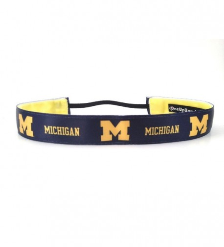 One Up Bands Women's NCAA University of Michigan Team One Size Fits Most - CZ11K9XFU87