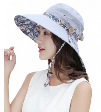 HindaWi Sun Hats For Women Wide Brim UV Protection Foldable Floppy Beach Hat - Grey - CF1845MXGG5
