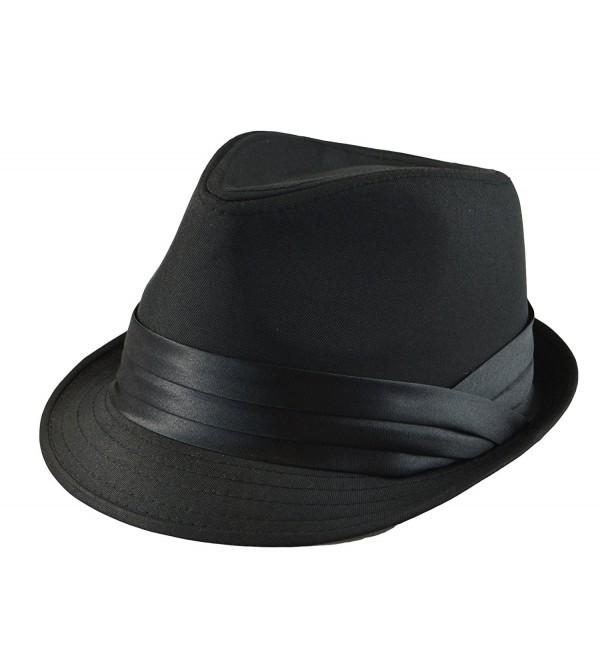 d6f6712af96565 Mens Classic Fedora Plain Basic Solid Trilby Plain Trilby Hat S/M- L ...