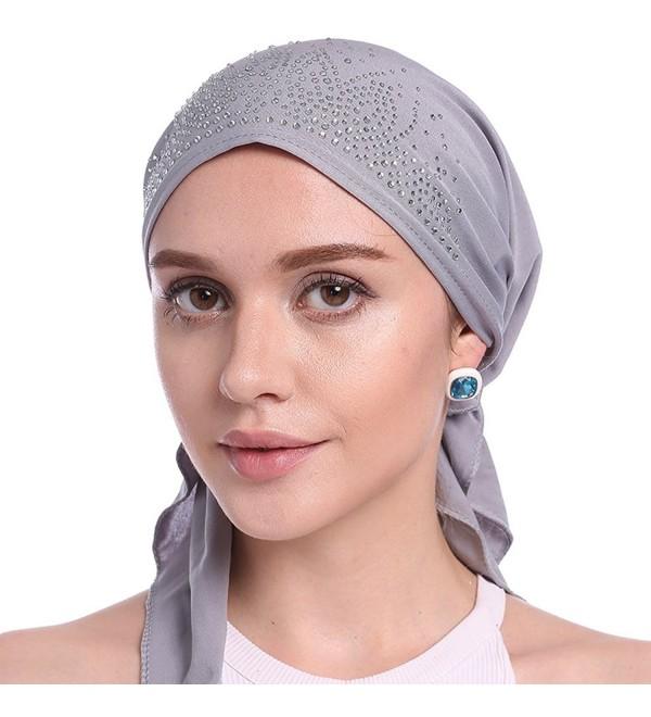Womens Beanie Turban Headwear Patients - Gray - CQ184EHA34G
